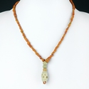 Necklace with Roman orange glass and faience beads