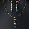 Matching set - pendant and earrings with Roman glass beads