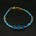 Bracelet with Roman turquoise glass and melon beads
