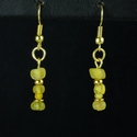 Earrings with Roman yellow glass beads