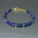 Bracelet with Roman blue glass and lapis beads