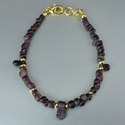 Bracelet with Roman purple glass beads