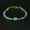 Bracelet with Roman turquoise glass beads