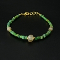 Bracelet with Roman green and semi-translucent glass beads
