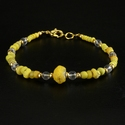 Bracelet with Roman yellow glass beads