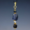 Pendant with Roman blue glass beads