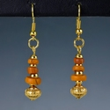 Earrings with Roman orange glass beads