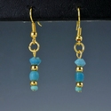 Earrings with Roman turquoise/blue glass beads