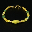 Bracelet with Roman yellow and green glass beads