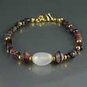 Bracelet with Roman purple glass and agate beads
