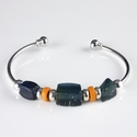 Bracelet with Roman blue and orange glass beads