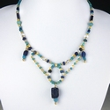 Necklace with Roman turquoise and blue glass beads