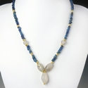 Necklace with Roman blue glass and agate beads