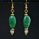 Earrings with Roman glass and semi-precious stone beads