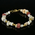 Bracelet with Roman red glass, shell and stone beads