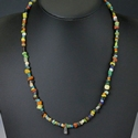 Necklace with Roman multicoloured glass beads