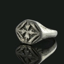 Medieval silver ring with Cross Patoncé