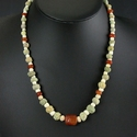 Necklace with Egyptian faience, stone and carnelian beads