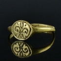 Medieval gold ring with fleur-de-lis