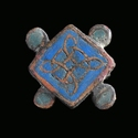 Anglo-Saxon cloisonné enamelled plate brooch
