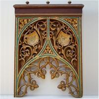 Large Flemish decorated wood panel