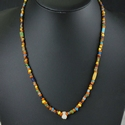 Necklace with Roman multicoloured glass and amulet beads