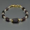 Bracelet with Roman purple glass beads