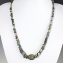 Necklace with Roman multicoloured stone, glass, amulet beads