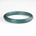 Solid Roman aquamarine / blue glass bracelet
