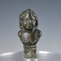 Roman bronze chariot bust of young Eros or Cupid