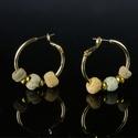 Earrings with Egyptian faience beads