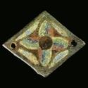 Medieval Limoges champlevé enamel applique