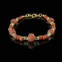 Bracelet with Roman red glass beads