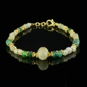 Bracelet with Roman semi-translucent and green glass beads