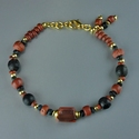 Bracelet with Roman red and black glass beads