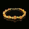 Bracelet with Roman orange and yellow glass beads