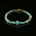Bracelet with Roman turquoise and white glass beads