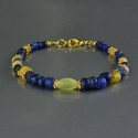 Bracelet with Roman blue and yellow glass beads