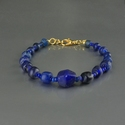 Bracelet with Roman blue glass beads