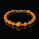 Bracelet with Roman orange glass beads