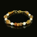Bracelet with Roman amber and white glass beads