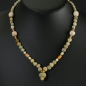 Necklace with Egyptian faience, coral and shell beads