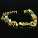 Bracelet with Roman multicoloured glass, shell, stone beads
