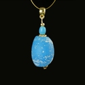Pendant with Roman turquoise glass beads