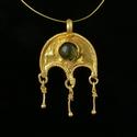Roman gold Lunula pendant