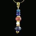 Pendant with Roman blue, red glass and shell beads