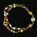 Bracelet with Roman yellow, red glass and shell beads