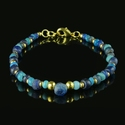 Bracelet with Roman blue and turquoise glass beads