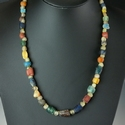 Necklace with Roman multicoloured glass and stone beads