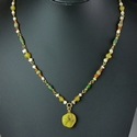 Necklace with Roman multicoloured glass and shell beads